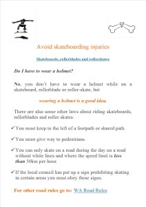 Avoid skateboarding injuries