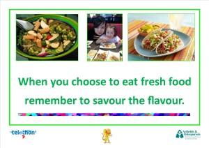 When choosing to eat fresh food